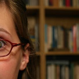 Girls wide eyes in library, Hannah Parry, Student Life, Kettle Mag
