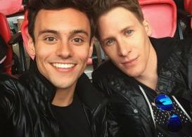 Tom Daley with Dustin Lance Black, now engaged