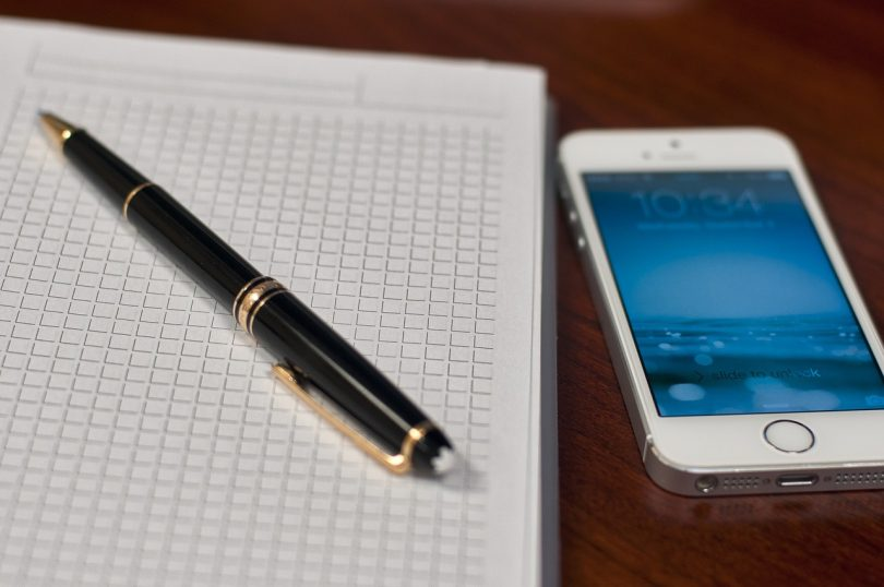 Notebook and phone, profession, journalism, Cameron Ridgway, Kettle Mag